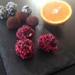 Dadelkugler med appelsin og smagen af jul