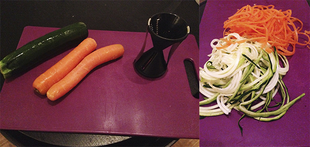 Samlet grønstsagsspaghetti