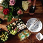 Sushi-tip og brødcroutoner