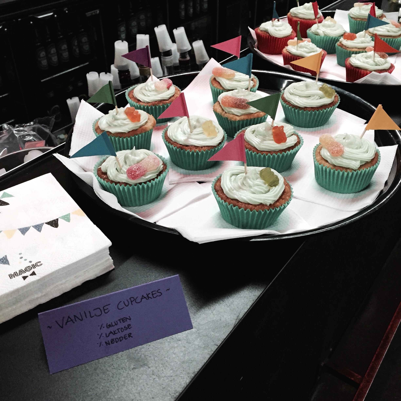 Glutenfri og laktosefri cupcakes