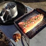 Varmrøget laks på grill