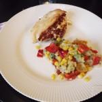 Kylling med baconfyld og Quinoasalat