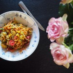 Grøntsagspasta med avokadocreme
