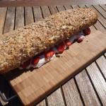 Roulade med friske jordbær