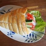 Fyldte frokosthorn med kyllingesalat