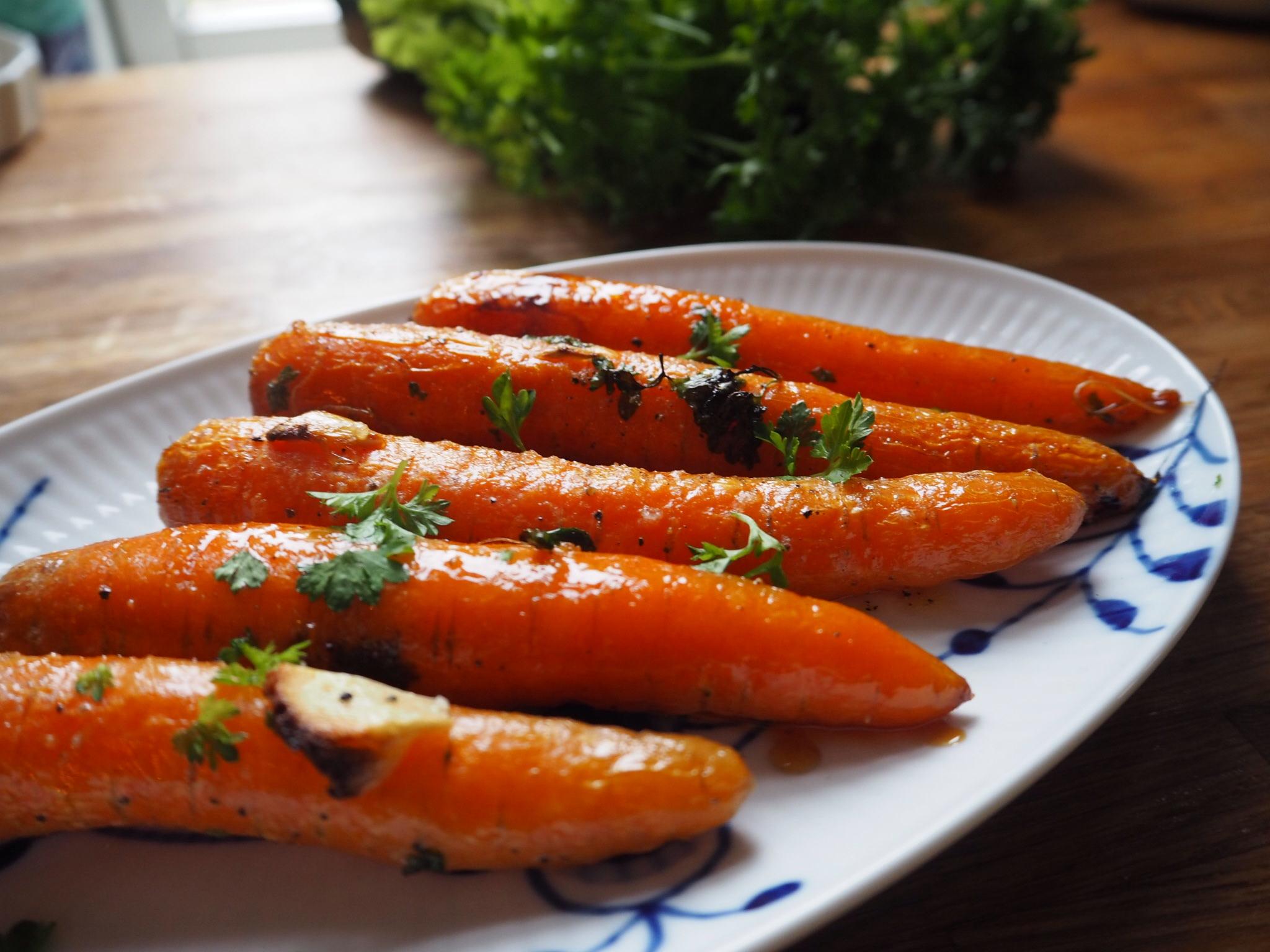 Honningristede gulerødder
