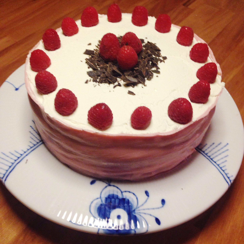 Glutenfri Hindbærlagkage