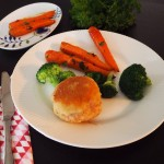 Glutenfri karbonader med honningristede gulerødder