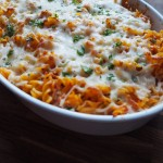Bagt parmesan kylling med pasta
