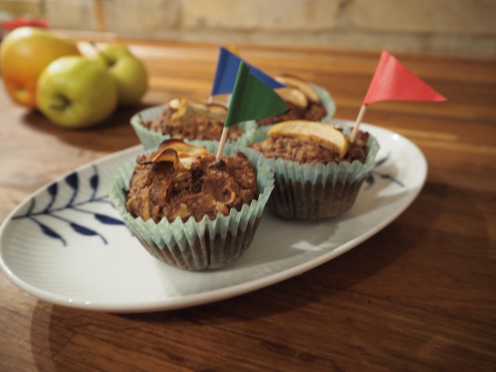 Glutenfri æblemuffins