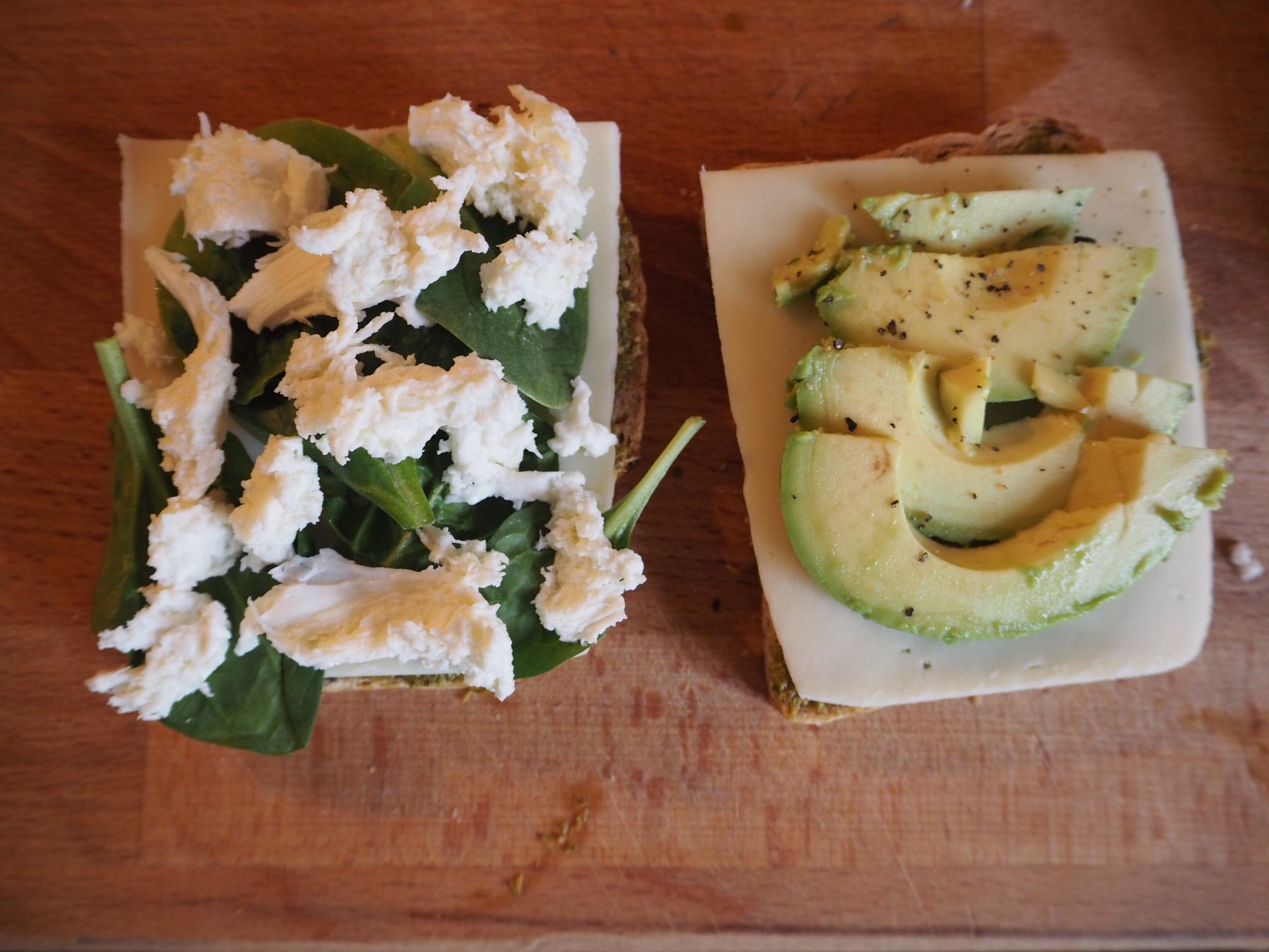 Glutenfri avokado sandwich