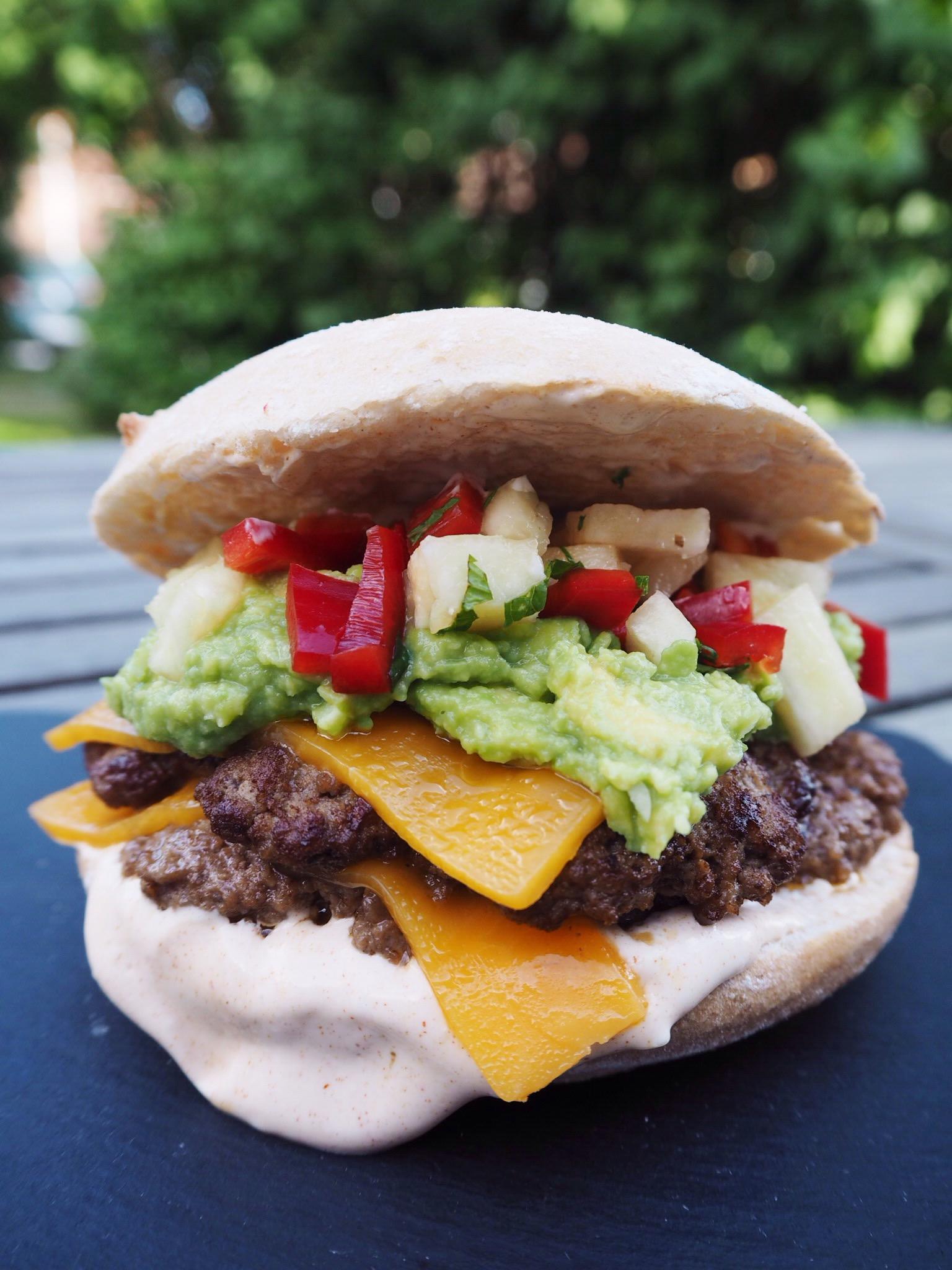 Glutenfri cheeseburger